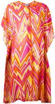 M Missoni zigzag print shift dress - women - Cotton/Acetate/Silk - S
