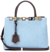 Fendi 2jours Petite Denim And Leather Tote