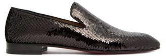 Christian Louboutin Dandelion Sequinned Loafers - Black