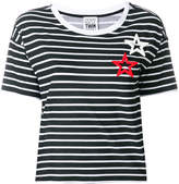 Twin-Set striped star patch T-shirt