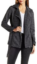 Charlotte Russe Belted Fleece Trench Coat