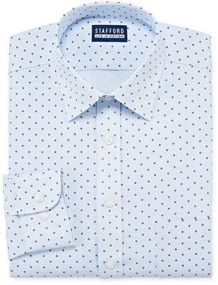 STAFFORD Stafford Mens Point Collar Long Sleeve Stretch Cooling Moisture Wicking Dress Shirt