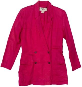 Genny Pink Linen Jacket for Women Vintage