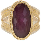 Anna Beck 18K Gold Plated Sterling Silver Oval Ruby Ring