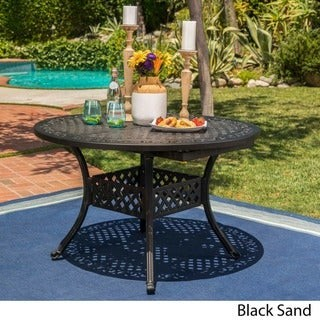 Christopher Knight Home Stock Island Outdoor Oval Dining Table