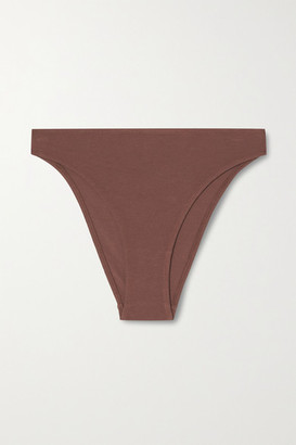 Skin Galen Organic Pima Cotton-blend Jersey Briefs - Brown