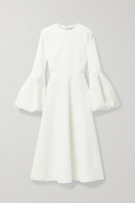Roksanda Aylin Tulle-trimmed Cady Midi Dress - White