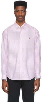 Polo Ralph Lauren Pink and White Striped Oxford Shirt
