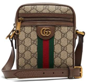 Gucci Ophidia Gg Supreme Leather Trim Cross Body Bag - Mens - Beige