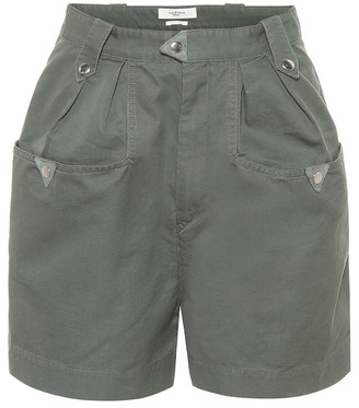 Etoile Isabel Marant Palino high-rise cotton shorts