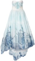 Valencia abstract print ball gown