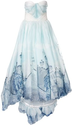 Isabel Sanchis Valencia abstract print ball gown