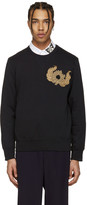 Alexander McQueen Black Embroidered Pullover