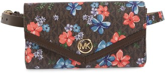 Michael Kors Floral Faux Leather Belt Bag