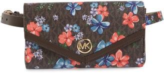 Michael Kors Floral Faux Leather Belt Bag