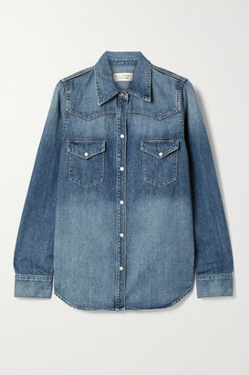 Nili Lotan Travis Denim Shirt - Mid denim