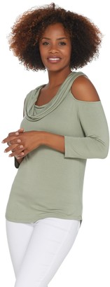 Lisa Rinna Collection Off-the- Shoulder Knit Top
