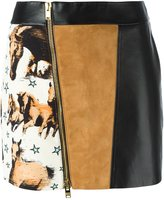 Fausto Puglisi mini jupe skirt - women - Silk/Acetate/Lamb Skin - 42