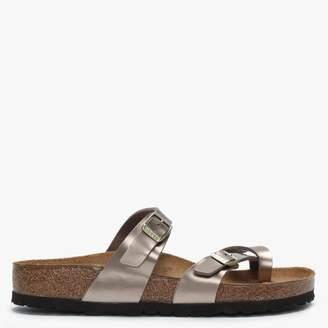 Birkenstock Mayari Electric Metallic Taupe Birko-Flor Thong Sandals