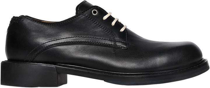 Diesel Smooth Leather Derby Lace-Up Shoes