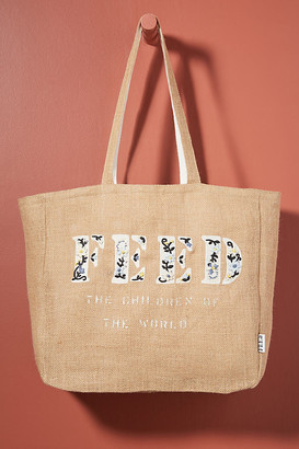 BEIGE FEED Embroidered Tote Bag By FEED in Size ALL