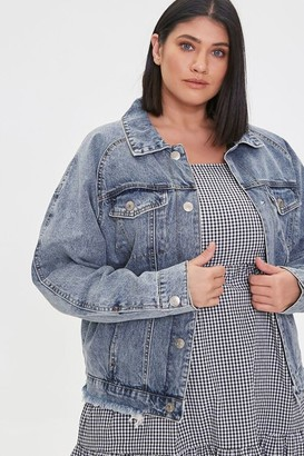 Forever 21 Plus Size Denim Button-Front Jacket