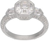 Judith Ripka Sterling 2.80 cttw Asscher-Cut Diamonique Ring