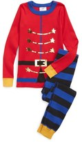 Hanna Andersson 'Drummer Boy' Organic Cotton Two-Piece Fitted Pajamas (Toddler, Little Kids & Big Kids)