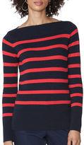 Chaps Striped Cotton-Modal Sweater