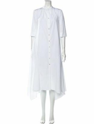 Occhii Mock Neck Midi Length Dress White