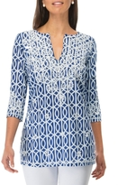 Gretchen Scott Great Geo Tunic Top