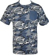 Majestic International Men's Cotton Raw Edge Crew Neck Camo Print T Shirt, 2XL
