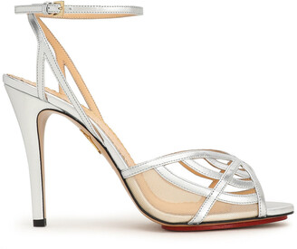 Charlotte Olympia Metallic Leather And Mesh Sandals