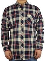 PHOENISING Men's 100% Cotton Long Sleeve Casual Plaid Flannel Shirt