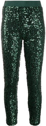 P.A.R.O.S.H. Sequin-Detail Cropped Trousers