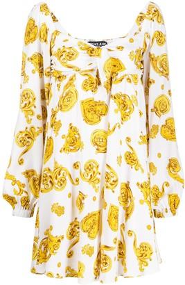 Versace Baroque-Print Sweetheart Dress