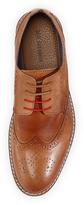 Ben Sherman Perforated Lace-Up Shoe, Tan