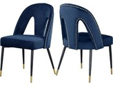 Everly Connor Upholstered Dining Chair Quinn Upholstery Color: Navy