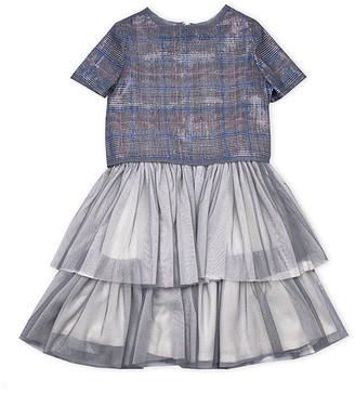 Biscotti Girls' Special Occasion Dresses GREY - Gray Tartan Layered Tutu Dress - Toddler & Girls