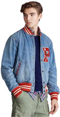 Polo Ralph Lauren Men Denim Letterman Jacket