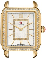 Michele 16mm Deco II Mid-Size Diamond Gold, Diamond Dial Watches