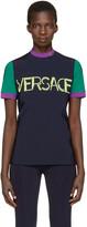 Versace Tricolor Colorblocked Logo T-shirt