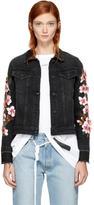 Off-White Black Denim Diagonal Cherry Jacket