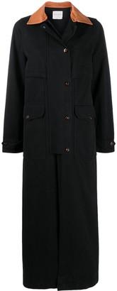 Forte Forte Contrast-Collar Coat