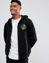 Versace Jeans Hoodie In Black With Chest Logo