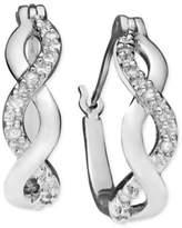 Macy's Diamond Infinity Earrings in 18k Gold and Sterling Silver (1/10 ct. t.w.)