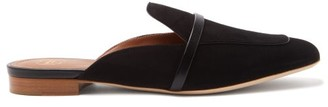 Malone Souliers Jada Backless Suede Loafers - Womens - Black