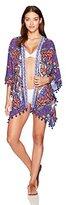Trina Turk Women's Balinese Batik Kimono Cover up