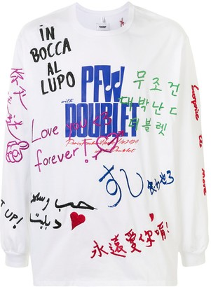 Doublet embroidered oversized cotton T-shirt