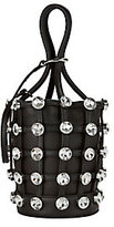 Alexander Wang Roxy Crystal Cage Mini Bucket Bag